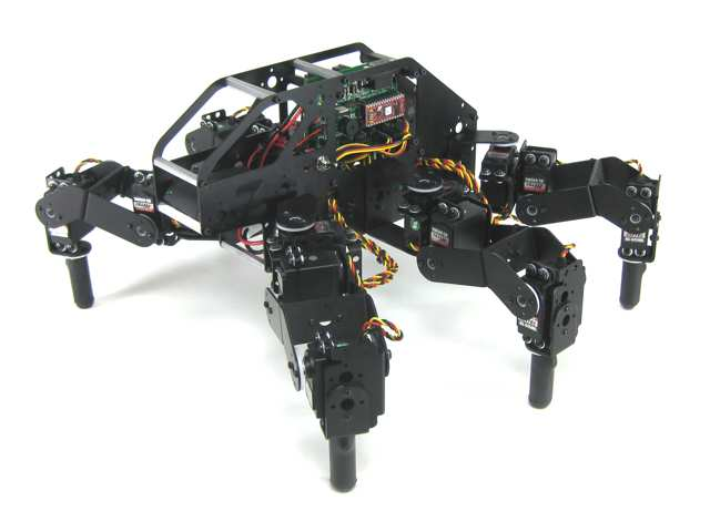 Lynxmotion T-Hex 18DOF Hexapod Walking Robot Kit (All Black)
