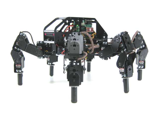 Lynxmotion T-Hex 24DOF Hexapod Walking Robot Kit (All Black)